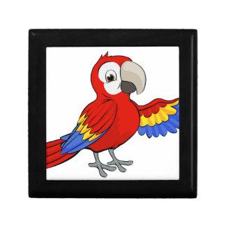 Cartoon Parrot Keepsake Box