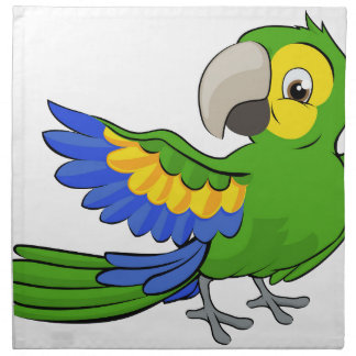Cartoon Parrot Mascot Napkin