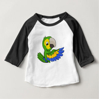 Cartoon Parrot Pointing Around Sign Baby T-Shirt