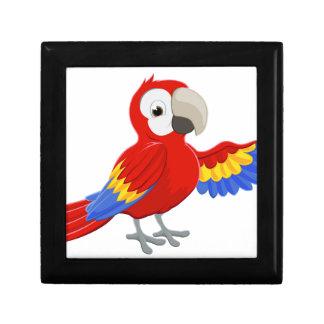 Cartoon Parrot Pointing Keepsake Box