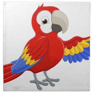 Cartoon Parrot Pointing Napkin