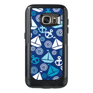 Cartoon Pattern With Sailboats OtterBox Samsung Galaxy S7 Case