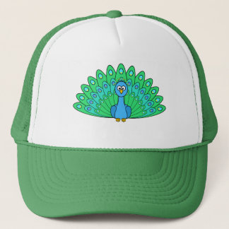 Cartoon Peacock Trucker Hat