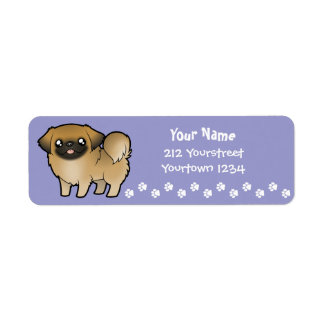 Cartoon Pekeingese (puppy cut) Return Address Label
