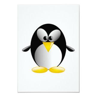 "Cartoon Penguin 3.5"" X 5"" Invitation Card"