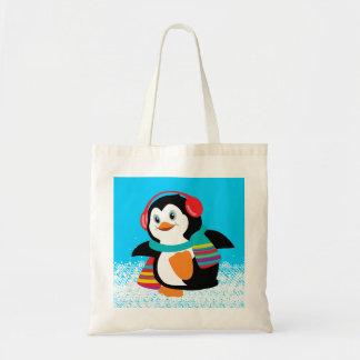 cartoon penguin canvas bags