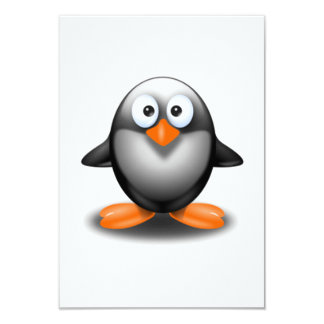Cartoon Penguin Custom Announcement