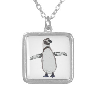 Cartoon Penguin Silver Plated Necklace