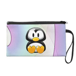 Cartoon Penguin Wristlet Clutch