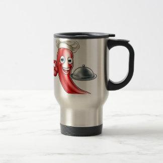 Cartoon Pepper Chef Travel Mug