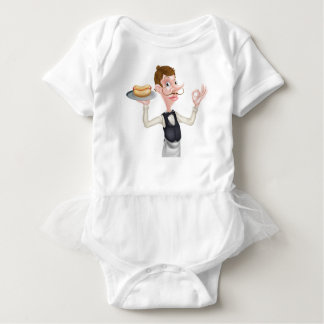 Cartoon Perfect Hotdog Butler Baby Bodysuit