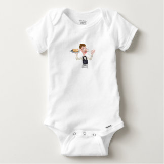 Cartoon Perfect Hotdog Butler Baby Onesie