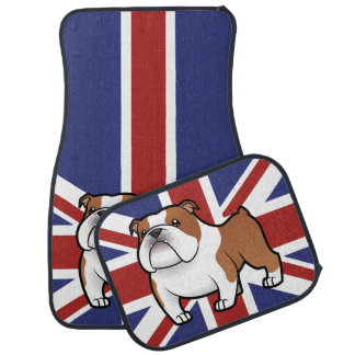 Cartoon Pet with Flag Car Mat