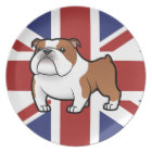 Cartoon Pet with Flag Plate