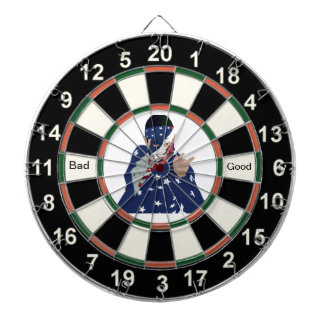 Cartoon Picture of Donald Trump Dartboard