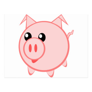 Cartoon Pig on Quality Products Postcard