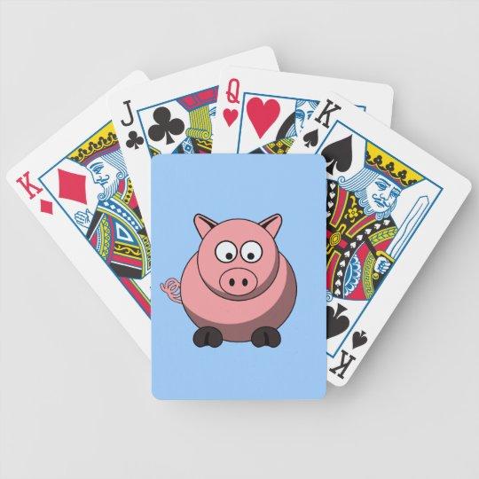 Cartoon Pig Playing Cards