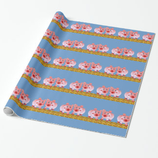 Cartoon Pigs Wrapping Paper