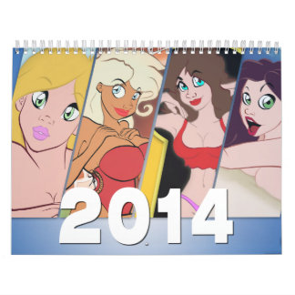 Cartoon Pin-Up Calendar 2014
