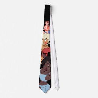 Cartoon Pin-Up Tie