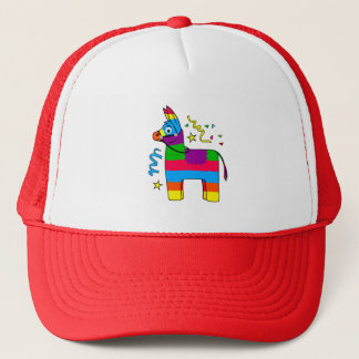 Cartoon Pinata Burro Trucker Hat
