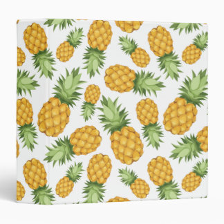Cartoon Pineapple Pattern Binder