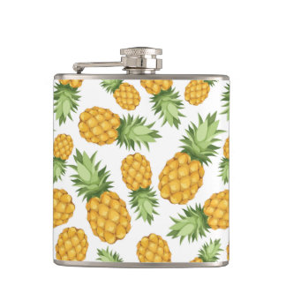 Cartoon Pineapple Pattern Hip Flask