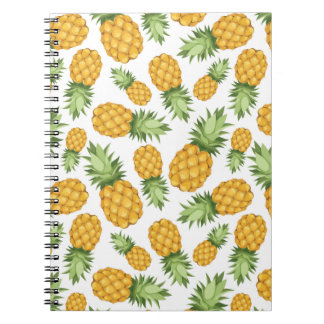 Cartoon Pineapple Pattern Spiral Notebook
