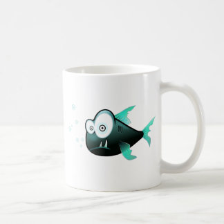 Cartoon Piranha Coffee Mug