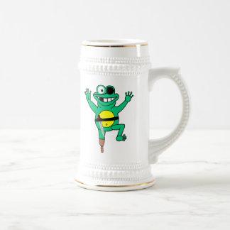 Cartoon Pirate Frog Beer Stein