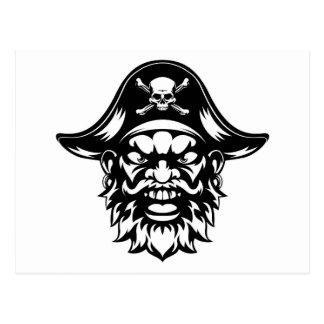 Cartoon Pirate Mascot Postcard
