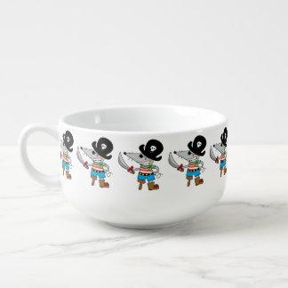 cartoon pirate mouse soup mug