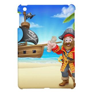 Cartoon Pirate on Beach Cover For The iPad Mini