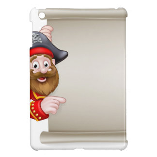 Cartoon Pirate Pointing at Scroll Sign Cover For The iPad Mini