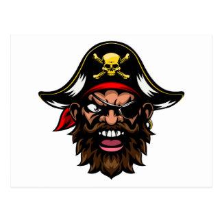 Cartoon Pirate Sports Mascot Postcard