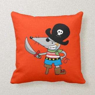 cartoon pirate throw pillow