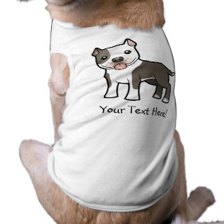 Cartoon Pitbull / American Staffordshire Terrier Dog Shirt