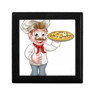 Cartoon Pizza Chef Character Mascot Gift Box