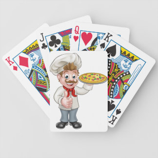 Cartoon Pizza Chef Character Mascot Poker Deck