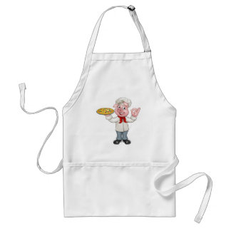Cartoon Pizza Chef Pig Character Standard Apron