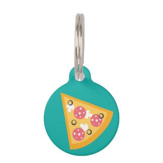 Cartoon Pizza Slice Pet Name Tag