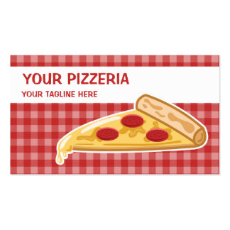 Cartoon Pizza Slice Pizzeria Pack Of Standard Business Cards