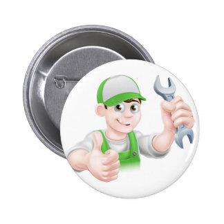 Cartoon Plumber 2 Inch Round Button