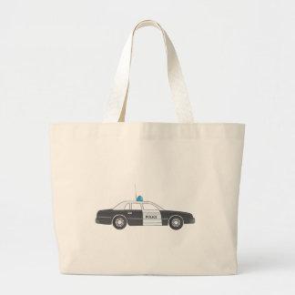 Cartoon Police Patrol Car Canvas Bags