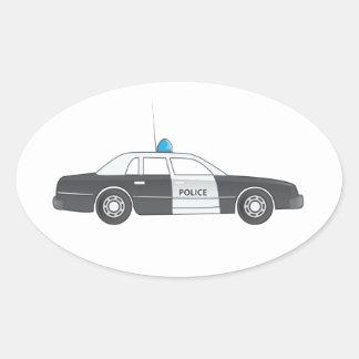 Cartoon Police Patrol Car Sticker