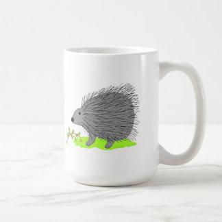 Cartoon Porcupine Classic White Coffee Mug