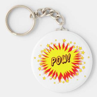 Cartoon Pow Keychain