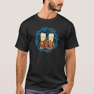 Cartoon Pretzel with Beer 2 T-Shirt