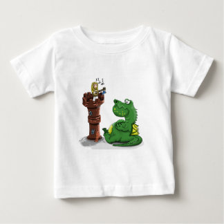 Cartoon princess playing a banjo baby T-Shirt
