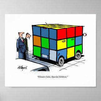 CARtoon print Nissan Cube